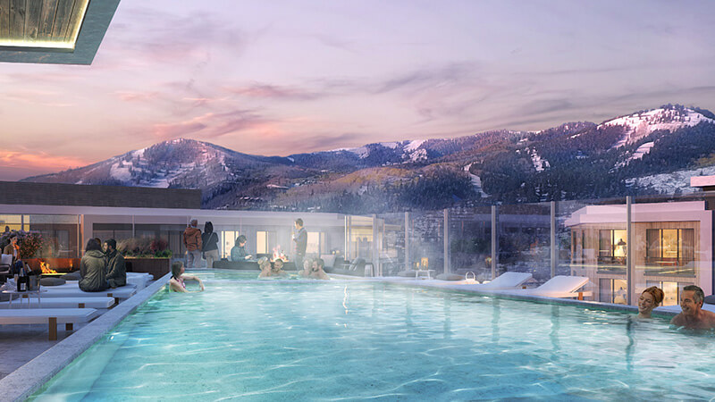 Rendering of Pendry Rooftop Pool